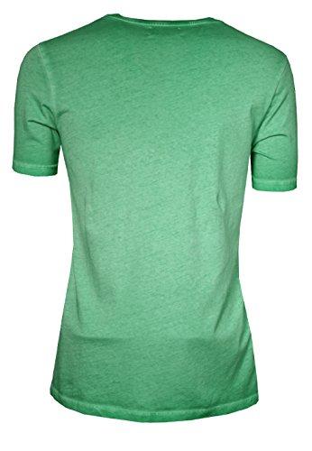 SIGNUM Herren T-Shirt mit V-Ausschnitt I 100% Baumwolle I mehrere Farben I Größen S - XXXL (Übergröße) Alhamba Green