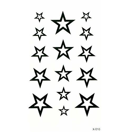 Just fox-tatuaggi temporanei stelle body art
