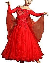 ac506a0b8179 WQWLF Ballo Abiti da Ballo per Le Donne Flamenco Valzer Tango Danza Costumi  Concorrenza Vestire Grande