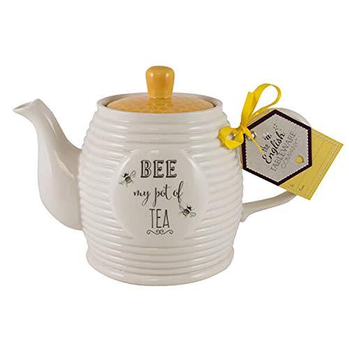 English Tableware Company Bee Happy Bee My Pot of Tea Teapot 1 Litre