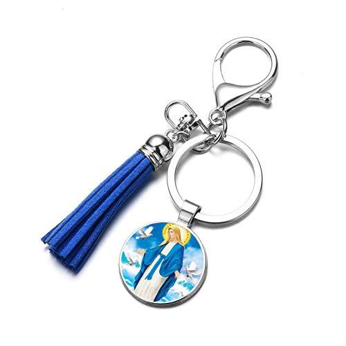 u Maria Mutter Baby Keychain Jesus Christian Anhänger Top Quaste Schlüsselanhänger Katholischen Religiösen Schmuck ()