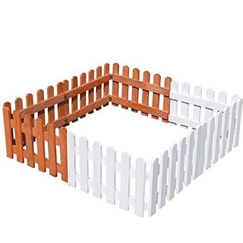JIANFEI-weilan Gartenzaun Steckzaun Garten Barriere Außendekoration Kinderleitplanke Korrosionsbeständig, 3 Farben 4 Größen (Farbe : Weiß, größe : 45x30cm)