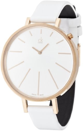 Calvin Klein Damen-Armbanduhr equal Analog Quarz Leder K2E236L6