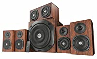 Trust 21787 Vigor 5.1 Surround Speaker System for PC and Laptop, UK Plug, 150 W, Brown