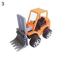 Kalaokei 6Pcs Kids Mini Pull Back Engineering Vehicles Simulation Model Children Toy