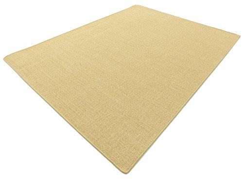 Salsa Design HEVO® Sisal Katzen Kratzteppich beige mit klassischer Kettelkante 85x160 cm