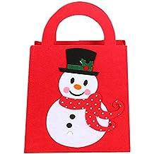 Topdo 1 Pieza Bolsa de Regalo Navidad con Cajas de Tela no Tejida Muñeco de Nieve