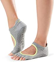 Fitness Mad Unisex's ToeSox Half Toe Bellarina Yoga & Pilates Grip Sock, Heather