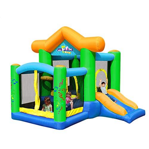 XGYUII Hüpfburg-Quadrat-Spielzeug-Dia-Ausgangspark der Kinder aufblasbare Wasserrutsche-Kletterndia-springende Trampoline