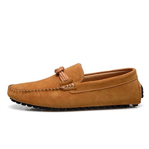 Men's Minitoo Classic Cordon de daim Walk Loafers nœud de route Marron - marron