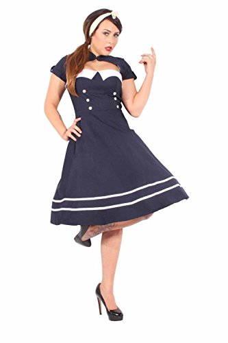 Pin Up SAILOR Retro rockabilly Bolero SWING Kleid Petticoatkleid - 5