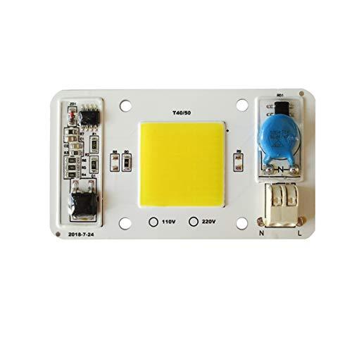 Tesfish Lumière de LED moteur 50W 170-300V 4000K Blanc naturel COB Puce intégré Intelligent Driver IC Soudure libre pour LED projecteur etc.