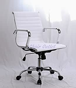White Timeless Designer Contemporary Reception Meeting Office Management Chair