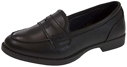 Lora Dora Girls Slip On Loafers Faux Leather School Shoes Womens Comfort Work Shoes Size UK 12-6