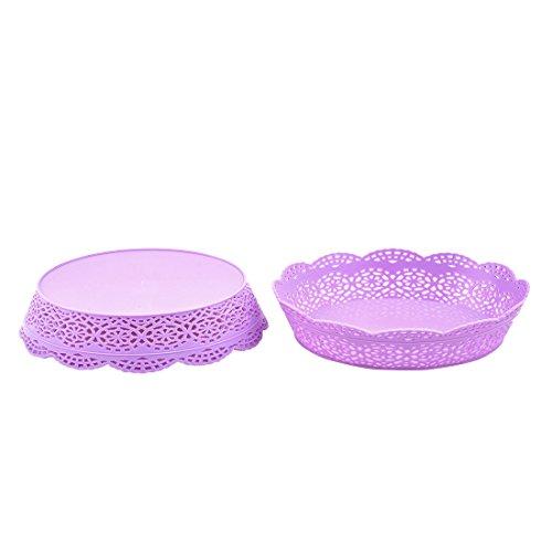 Kunststoff-platten Lila (sourcingmap 2stk. Lila Kunststoff Aushöhlen Design Snack Candy Obst Gemüse Platte Korb)