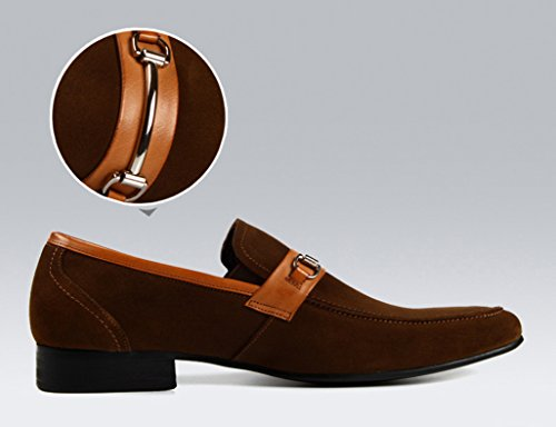 Scarpe Uomo in Pelle Scarpe da uomo in pelle con punta appuntita in pelle business casual ( Colore : Nero , dimensioni : EU42/UK7.5 ) Marrone