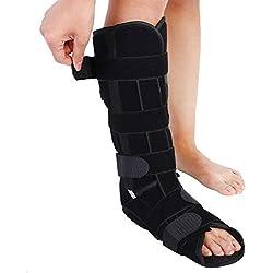 Medizinische Beinorthese Knöchelbandage Verstellbare Beinstütze Strap Knöchelbandage Knöchelfraktur Fixateur (Size : M)