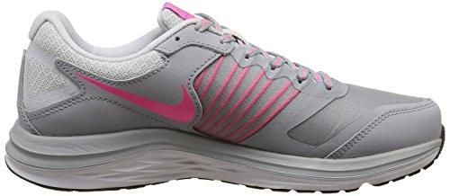 Nike Wmns Dual Fusion X, Scarpe sportive, Donna Wolf Grey/Pink Pow-Pure Platinum-Fuchsia