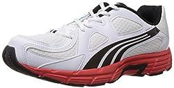Puma Mens Axis v3 Ind. White, Black and Grenadine Running Shoes - 7 UK/India (40.5 EU)