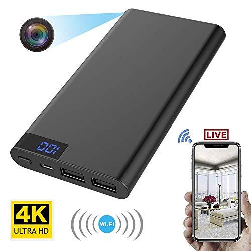 LINYU 2-en-1 10000mAh Power Bank et 4K WiFi Recorder caméra cachée Espion Vision Nocturne HD 1080p DVR Caméra