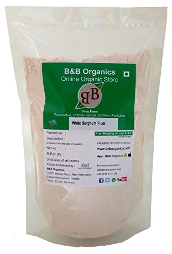 B&B Organics White Sorghum Atta (Jowar), 5 kg