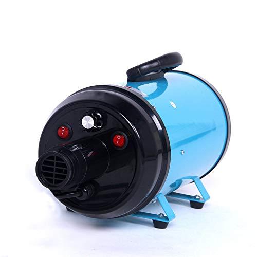 HYCy Hundetrockner Baden Haare Hoch Macht Haare Schlag Maschine 2200 Watt Stufenlos Geschwindigkeit Verordnung Spezial Wasser Bad (Farbe : Blau) - Australien Haartrockner Für