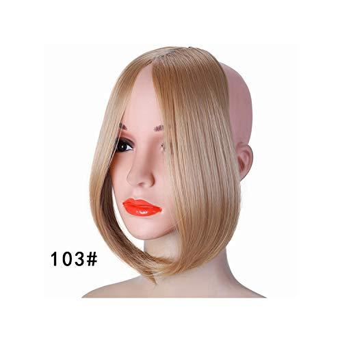 Short Geneigt In Side Bangs Hübsche Mädchen Auf Clip In Front Hair Bang Fringe Haarverlängerung Stück Headwear 103 10 Zoll