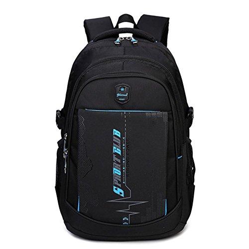 Zaino in spalla uomo scuola studente casuale oxford panno borsa grande capacità uomini viaggio zainetto computer portatile zaino, blue