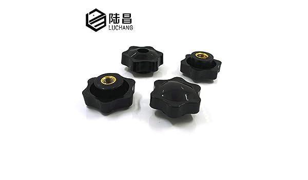 10PCS M5/M6/M8/M10/M12/prugna in bachelite maniglia mano serrare titanio filo Star meccanico nero dado zigrinato manopola di bloccaggio manuale titanio