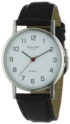 Regent 11110364 - Reloj de caballero de cuarzo, correa de piel color negro