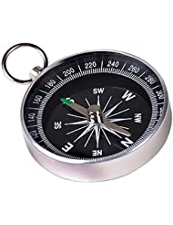 Tragbare Metall-Kompass mit Schlüsselanhänger (Large) - Silber