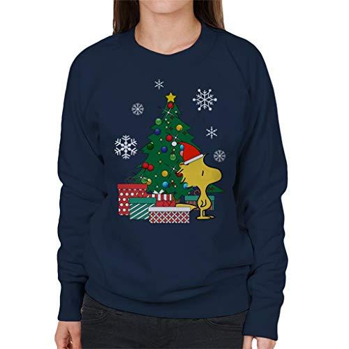 Cloud City 7 Woodstock Around The Christmas Tree Peanuts Women's Sweatshirt