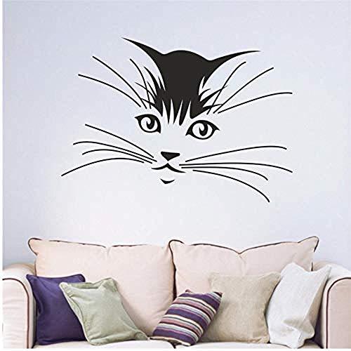 57 * 80 cm Katze Kätzchen Whiskers Kinder Schlafzimmer Wohnzimmer Jugend Abziehbild Abnehmbare Vinyl Wandaufkleber -