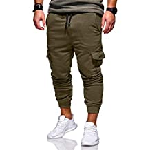 Amazon.es  pantalon chandal hombre - Verde fadbb0cb5d7b8