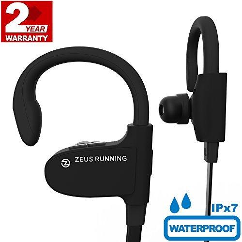 Wireless Bluetooth Headphones Zeus IMPROVED 2018 - Best Wireless Earbuds w/ Mic Noise Cancelling - Workout Headphones - Running Headphones - Sport Headphones - IPX7 Waterproof Headphones for Women Men