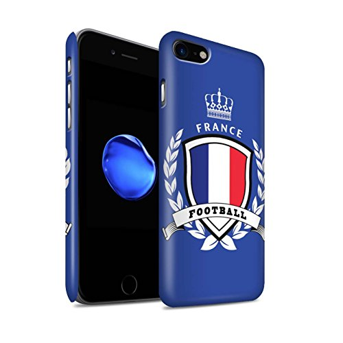 STUFF4 Matte Snap-On Hülle / Case für Apple iPhone 7 / Schottland/Scottish Muster / Fußball-Emblem Kollektion Frankreich