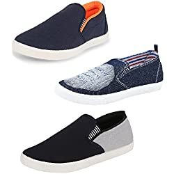 Chevit Men's Trio Pack of 3 Casual Shoes (Sneakers Shoes)