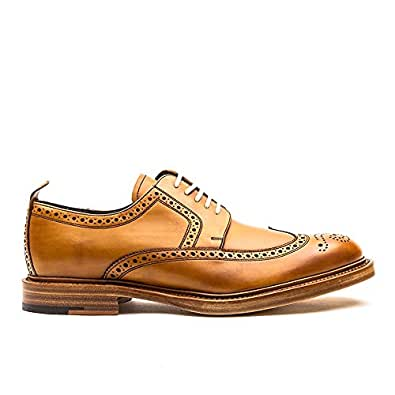 BARKER Bailey Leather Brogue Shoe Tan Made in England
