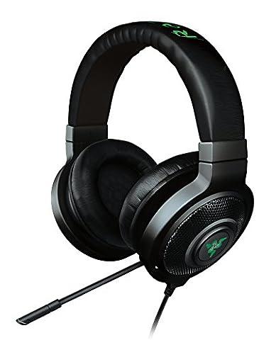 Razer Kraken 7.1 Chroma Gaming Headset with Sound and USB Gaming Headset (7.1 Surround Sound with Retractable Digital Microphone and Chroma Lighting) - Black
