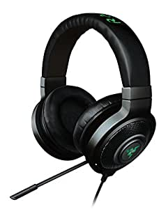 Razer Kraken 7.1 Chroma RGB beleuchtetes Sound USB Gaming Headset (Surround Sound mit einziehbaren Mikrofon für PC und PS4) Schwarz (RGB Beleuchtet)