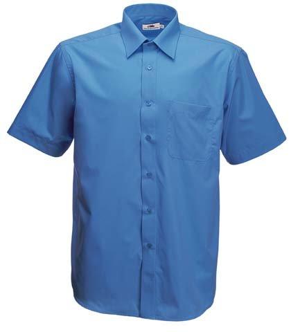 """- Material: 55% Baumwolle, 45% Polyester- Gewicht: weiß â€"""" 115gm/m²- farbig â€"""" 120gm/m²- Größen: S â€"""" XXXL- Standardkragen und gleichfarbige Brusttasche- Gleichfarbige Knöpfe"""