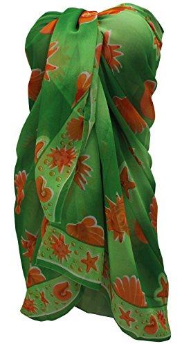 avvolgere resortwear coprire sarong gonna donne costume da bagno pareo beachwear di bagno dello swimwear vestito Andare Verde