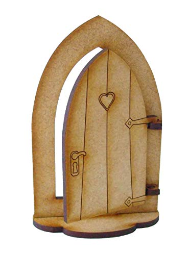 Garden Cottage-kits (Alchemy Gravur Öffnung Holz Fairy Tür mit Fuß-Fairy Cottage Fairy Tür Selbstmontage Craft Kit)