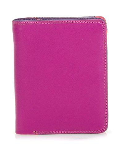 mywalit - leder damen Geldbörse - medium wallet w/ zip around purse 231-75 - Sangria Multi -