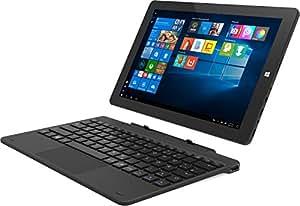 TrekStor Tablet-PC mit andockbarer Tastatur (25,65 cm (10,1 Zoll) IPS-Display, Intel Atom x5-Z8350, 2GB RAM, Intel HD Graphics 400, Win 10 Home) schwarz