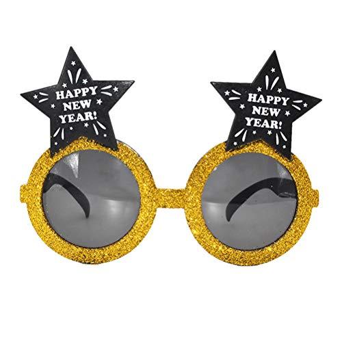 BESTOYARD 3pcs Silvester Brille Stern Sonnenbrillen Weihnachten Neujahr Party Brille Foto Requisiten Geschenk