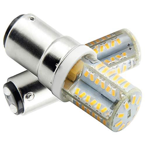 B15D-LED-Lampe-Glühlampe-4W, B15d LED Leuchtmittel, Nicht-Dimmbar, 350Lumen, 12V AC, 360 Grad Winkel, CRI> 80Ra, Warm Weiß 3000K, Ersatz für 45W B15D Halogenlampen(2er Pack) -