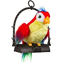 Shreeji Mart Talking Parrot with Mimic Voice and Flapping Wings-Adorable Parrot Flush Toy