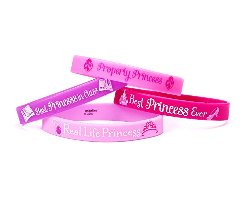 Disney Sofia The First Rubber Bracelets Princess Birthday Party Accessory Favour and Prize Giveaway (4 Pack), Multi Color, 2 1/2