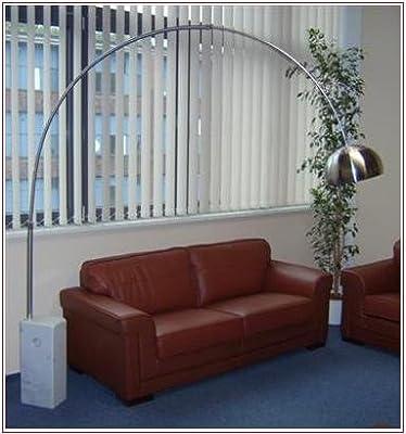 Design Bogenlampe mit Marmor Fuß von D&S Vertriebs GmbH bei Lampenhans.de